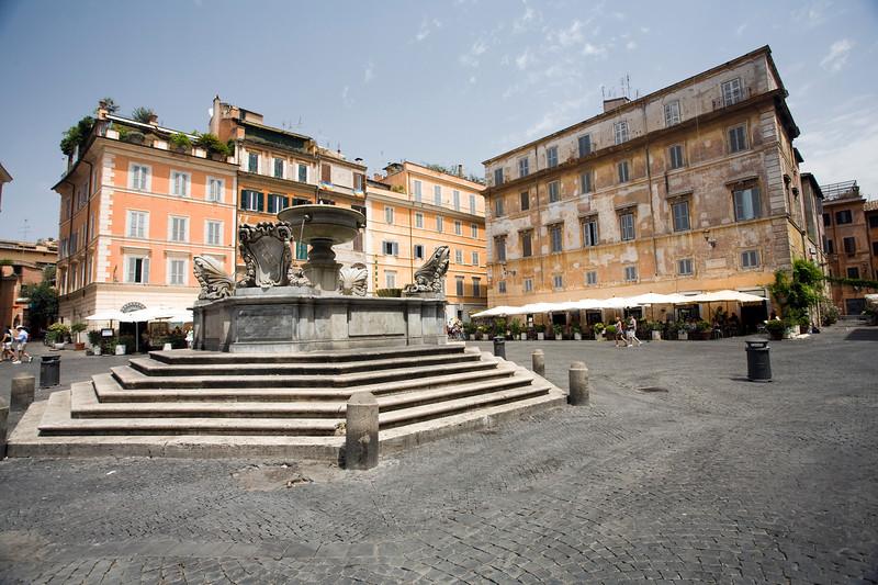 Santa Maria in Trastevere square, Rome