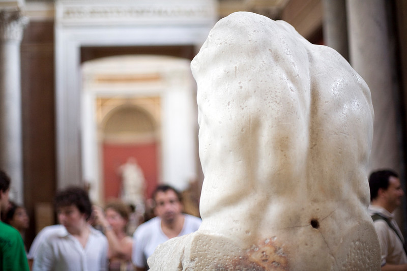 Belvedere torso, rear view, Vatican Museums