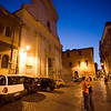 Night scene in Trastevere, Rome