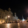 Nocturnal view of piazza Navona, Rome
