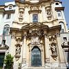 Rococo facade of Maddalena church, Rome