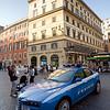 Police car at Piazza di Spagna, Roma