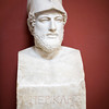 """Herm of Pericles bearing the inscription """"Pericles, son of Xanthippus, Athenian"""", Roman copy of the original by Kresilas, Vatican Museums"""