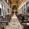Main nave of Santa Maria in Trastevere basilica, Rome