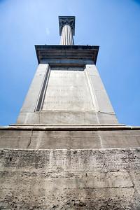Low angle view of the column on Piazza de Santa Maria Maggiore, Rome