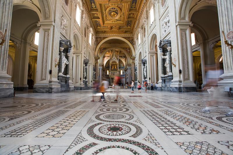 Main nave of San Giovanni in Laterano basilica, Rome