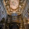Ceiling and entrance of Santa Maria della Vittoria church, Rome