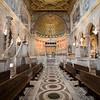 Interior of San Clemente basilica, Rome