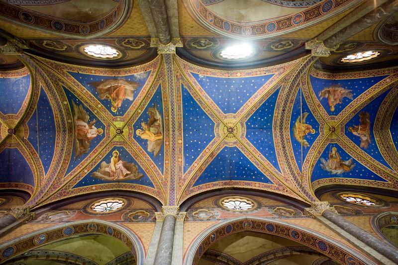 Painted ceiling of Santa Maria Sopra Minerva Basilica, Rome