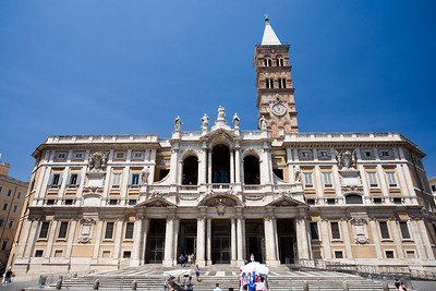 Facade of Santa Maria Maggiore basilica, Rome