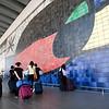 Joan Miro's mural, El Prat de Llobregat airport, Barcelona, Spain