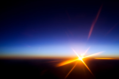 Sunset as seen from a plane over Spain
