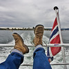 """This image conveys a notion of what could be called """"Norwegian way of life"""": calm, relax, rest and sea."""