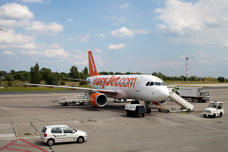 EasyJet plane landed on Schönefeld airport, Berlin, Germany