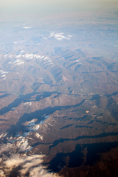 Spanish mountains from a plane