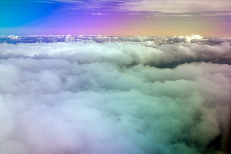 Cloudscape from an airplane, UK