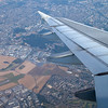 Outskirts of Paris from a plane arriving in Orly airport