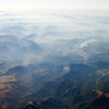 The Pyrenees mountains from a plane