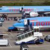 Thomson company planes on Luton Airport, UK