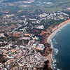 Aerial view of Atlantic coastline near Faro
