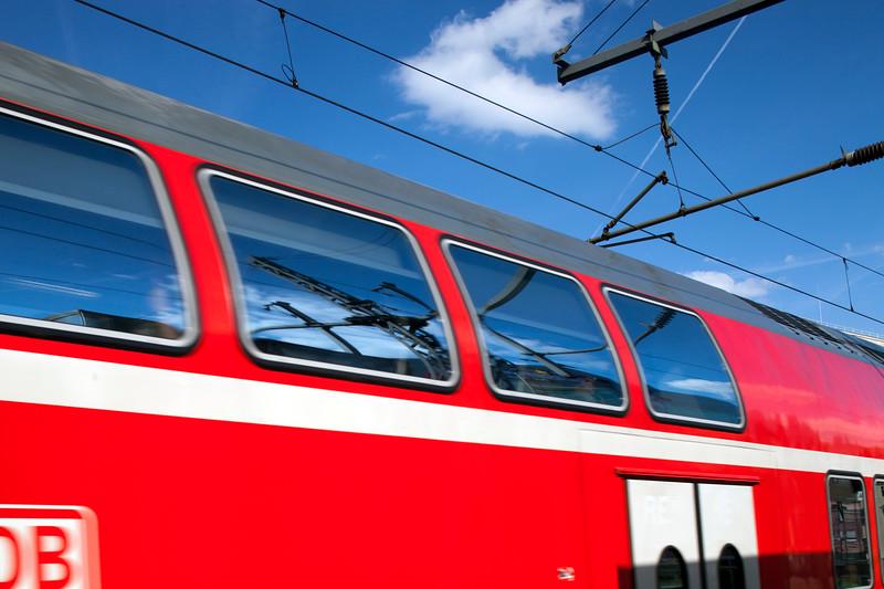 Detail of a DB Regio train, Berlin, Germany
