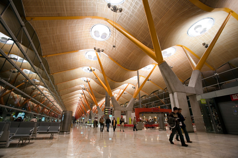 the new T4 terminal, Barajas airport, Madrid, Spain