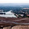 Aerial view of a marshland, Faro, Portugal