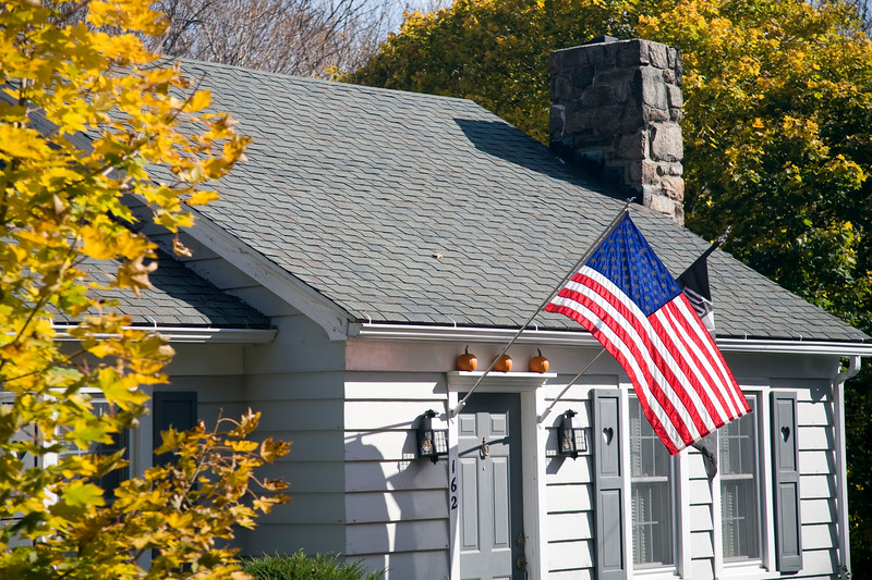 Fall scene, Connecticut, USA