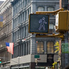 Pedestrian crossing signal, Broadway, NYC, USA