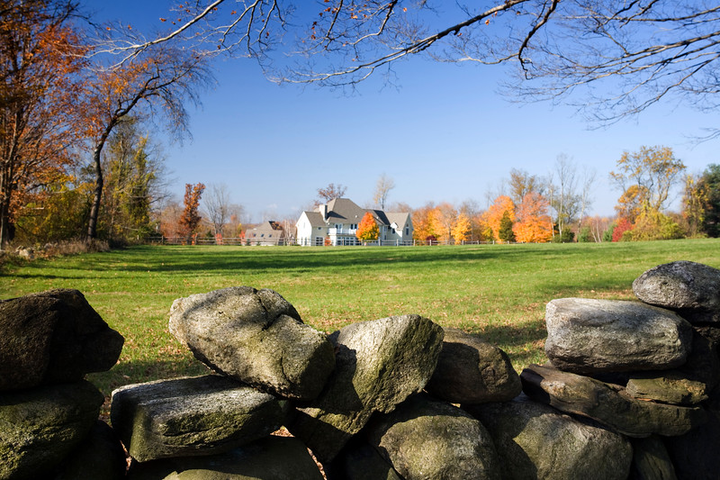 Fall scenic in Connecticut, USA