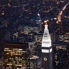 Nocturnal view of Midtown and Downtown Manhattan from the Empire State Building, NYC, USA