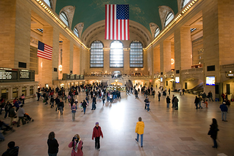The hall of Grand Central Terminal, NYC, USA