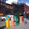 Newspaper boxes on Union Square, NYC, USA