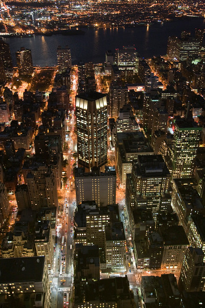 Midtown and Hudson River from the Empire State building, Manhattan, New York City, USA.