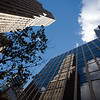 Skyscrapers and reflections on 34th street, NYC, USA