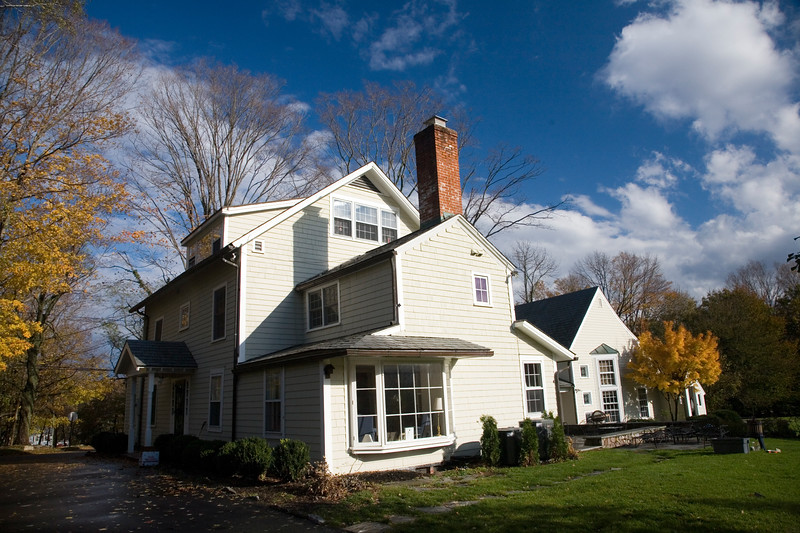 Typical New England wooden house, Wilton, Connecticut, USA