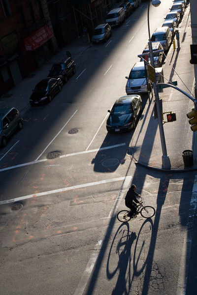 Early morning light on 27th street, New York City, USA