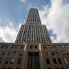 Facade of the Empire State Building on 5th Avenue, NYC, USA