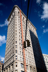 Rear view of Flatiron building, NYC, USA
