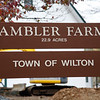 Ambler Farm Sign, Connecticut, USA.