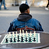 Man next to a chessboard, Union Square, NYC, USA