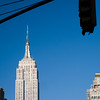 The Empire State building from Madison Square, NYC, USA