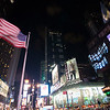 The American flag at Times Square, New York, USA