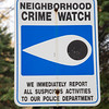 Crime Watch Sign, CT, USA