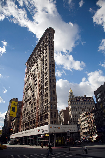 View of the Flatiron building from Broadway, NYC, USA
