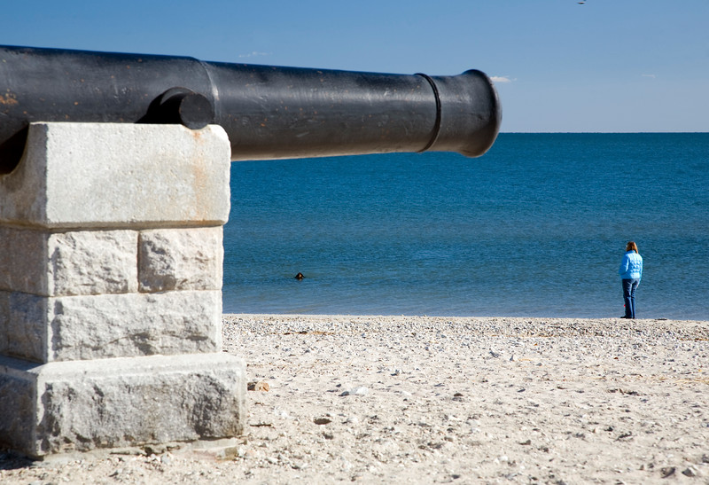 Cannons at Compo Beach, CT, USA