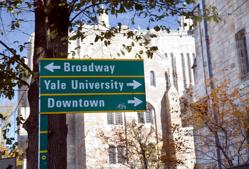 Street sign, New Haven, CT, USA