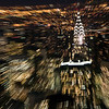 Midtown from the Empire State Building by night. Zooming effect done with the lens, pointing to the Chrysler Building. Manhattan, New York City, USA.