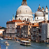 La Salute church from Accademia Bridge, Venice, Italy