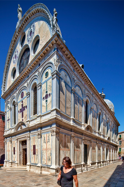 Santa Maria dei Miracoli church, in Cannaregio, Venice, Italy